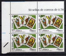 Spain Espana 2009 UPAEP Carte Da Gioco Cartes Playing Cards Stamp X 4 - Autres