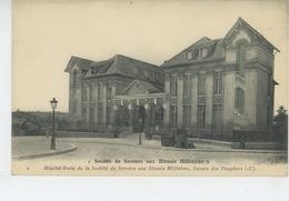 """GUERRE 1914-18 - PARIS XIIIème Arrondissement - """"Société De Secours Aux Blessés Militaires"""" - Hôpital Ecole, Square Des - Guerre 1914-18"""