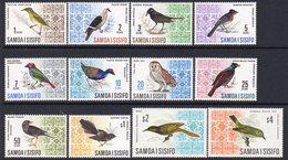 Samoa 1967 Birds Definitives Set Of 12, Hinged Mint ($4 MNH), SG 280/89b - Samoa