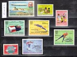 MADAGASCAR - REPUBLIQUE MALGACHE - 1976 - Petit Lot De Timbres Dentelé De L'année 1976 - Madagascar (1960-...)