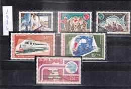 MADAGASCAR - REPUBLIQUE MALGACHE - 1974 - Petit Lot De Timbres Dentelé De L'année 1974 - Madagascar (1960-...)