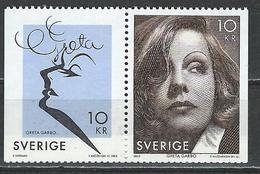 Sweden. Scott # 2517 MNH Pair. Greta Garbo. Joint Issue With USA 2005 - Gemeinschaftsausgaben