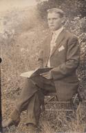 Old Postcard CYCO 1904-1920 - Real Photo Véritable - Man With Book - Homme Avec Livre  - Written - 2 Scans - Men