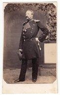 CDV Photo Format - Militär Uniform Soldat Offizier Um 1865-70  - Fotograf: Unbekannt - Krieg, Militär