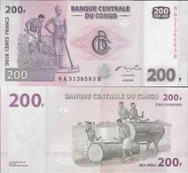 Congo DR 2007 - 200 Francs - Pick 99 UNC - Congo