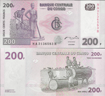 Congo DR 2007 - 200 Francs - Pick 99 UNC - Democratic Republic Of The Congo & Zaire