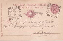 Ancien E.P. Cartolina Postale Italiana - 1896 - Beaux Cachets (Ripabottoni) - 1878-00 Umberto I