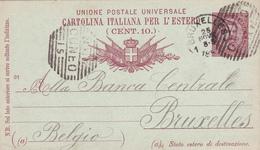 Ancien E.P. Cartolina Postale Italiana - 1892 - Beaux Cachets - 1878-00 Umberto I