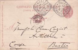 Ancien E.P. Cartolina Postale Italiana - 1898 - Vers La Corse - 1878-00 Umberto I
