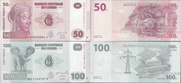 Congo DR 2007-13 - Set 50+100 Francs - Pick 97-98 UNC - Democratic Republic Of The Congo & Zaire