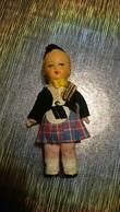Poupée De Collection Authentique Année 30 40 50 - Vêtement / Costume Traditionnel - Homme écossais Béret Kilt étoile - Dolls