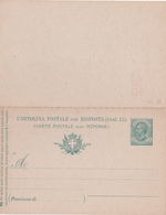 Ancien E.P. Cartolina Postale Italiana Con Riposta - Entier Postal Italien Avec Réponse - NEUF - 1900-44 Vittorio Emanuele III
