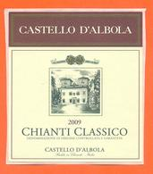 étiquette Autocollante De Vin Italie - Italia Vino Chianti Classico 2009 Castello D'albola - 75 Cl - Etiketten