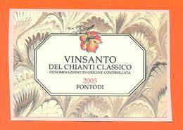 étiquette Autocollante De Vin Italie - Italia Vino Vinsanto Del Chianti Classico 2003 - 75 Cl - Etiketten