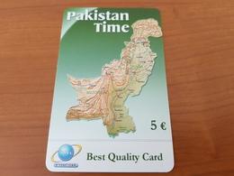Rarer Prepaid Card  - Pakistan Time   - Map - 5 €- Fine Used - - Deutschland