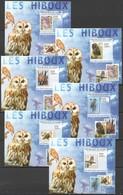 Z1571 !!! IMPERFORATE 2009 DE GUINEE FAUNA BIRDS OWLS LES HIBOUX 6 LUX BL MNH - Owls