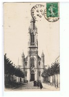 CPA-44-1916-NANTES-L'EGLISE SAINTE-ANNE-ANIMEE-PERSONNAGES DEVANT L'EGLISE- - Nantes