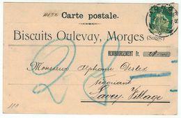 Suisse // Schweiz // Switzerland // 1907-1939 // Carte Publicitaire Et Commerciale  Au Départ De Morges - Suisse