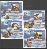 Z1580 2008 GUINE-BISSAU BIRDS OWLS MOCHOS 4 LUX BL MNH - Owls