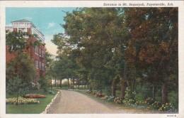 Arkansas Fayetteville Entrance To Mt Sequoyah 1941 Curteich - Fayetteville