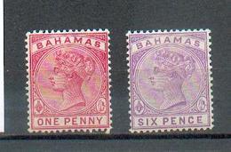 D 17 - BAHAMAS - YT 18 Et 21 * - 1859-1963 Kolonie Van De Kroon