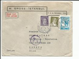 Turquie, Lettre Par Avion Istanbul - Genève (29.3.1941) - 1921-... Republiek