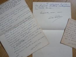 Gaston DEVORE (1859-1949) Auteur Dramatique. L'INDEPENDANT THEATRAL. 3 X AUTOGRAPHE - Autógrafos
