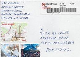 TIMBRES - STAMPS - LETTRE POUR PORTUGAL - CAP VERT / CAPE VERDE - TIMBRES DIVERS - Cape Verde