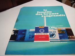 ANCIENNE PUBLICITE CIGARETTE FRANCAISE 1967 - Tabac (objets Liés)