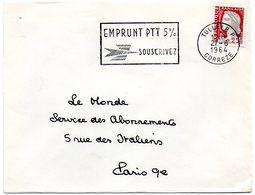CORREZE - Dépt N° 19 = TULLE RP 1964 = FLAMME SECAP ' EMPRUNT PTT 5 % ' - Marcofilia (sobres)