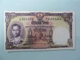 THAILAND-5 BAHT 1956.P-75d5.AUNC - Thailand