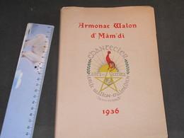 MALMEDY - ARMOCAC WALON D'MAM'DI - 1936 -Ed. CHANTECLER - TIRAGE 100 -EXEMPLAIRE 94 - Boeken, Tijdschriften, Stripverhalen
