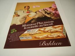ANCIENNE PUBLICITE MONSIEUR PLUS AVEC BAHLSEN 1970 - Alcools
