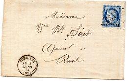 Vosges - LAC Affr N°60B (provenant De La Planche 4, Voir Description) Obl GC 1130 - Càd Type 17 Corcieux - Marcofilia (sobres)