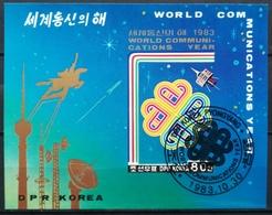 Korea North DPR 1983 Block World Communication Year - Korea (Nord-)