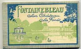 CARNET : 18 CARTES POSTALES - FONTAINEBLEAU - Son Château  - La Forêt. - Fontainebleau