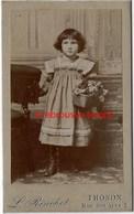 CDV Jolie Petite Fille Et Son Panier-photo L. Rinchet Rue Des Arts à Thonon-bel état - Old (before 1900)