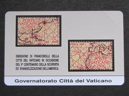 VATICANO SCV 0 - 6000 C&C - V° CENTENARIO SCOPERTA AMERICA - NUOVA - Vatican