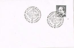 27926. Carta SANTANDER 1988. Aniversario Monarquia Española - 1981-90 Cartas