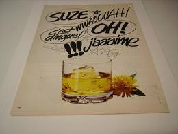 ANCIENNE AFFICHE  PUBLICITE SUZE 1980 - Alcools