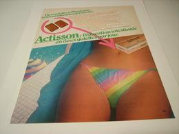 ANCIENNE PUBLICITE GALETTES ACTISSON 1980 - Posters