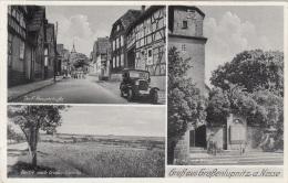 Gruß Aus GROßENLUPNITZ A.Nesse, 3 Bilder Fotokarte Gel.1937, Sonderstempel Stockhausen über Eisenach - Germania