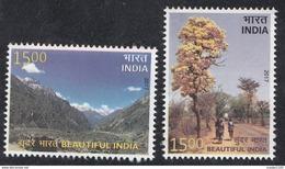 INDIA, 2017, Beautiful India,  Lahaul, Mountains, Flowering Tree,Taj Mahal,  Complete Setf 2v, MNH, (**) - Inde