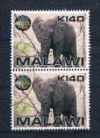 Malawi Elefanten Senkr. Paar Gestempelt - Malawi (1964-...)