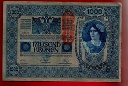 Billet De Banque Osterreich Autriche Hongrie 1000 Tausend Kronen Vienne 2-01-1902 Série 1865 - Oostenrijk