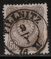 """Sachsen, 1876, """" Pillnitz """" Auf 50 Pfge. , Luxus!  , # A88 - Sachsen"""