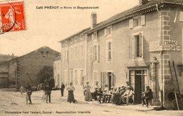 CPA - BEGNECOURT (88) - Aspect Du Café Prévot Et De La Mairie En 1911 - France