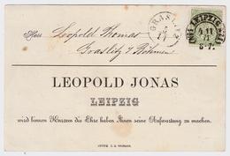 """Sachsen, 1871, Hufeisen """" Leipzig """" Luxus-Avis , # A89 - Sachsen"""