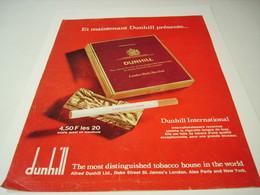 ANCIENNE PUBLICITE CIGARETTE  DUNHILL 1971 - Tabac (objets Liés)