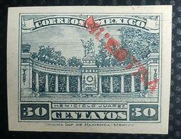O) 1923 MEXICO,PROOF - HEMICICLO OF BENITO JUAREZ IM ALAMEDA CENTRAL PARK,SCOTT A83 30 CENTAVOS, XF - Mexico